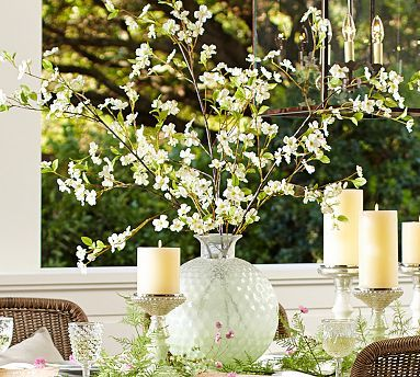 Faux White Dogwood Branch #potterybarn