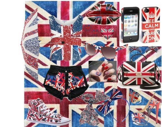 """Union Jack ♥"" by abrilmrsmalik ❤ liked on Polyvore"