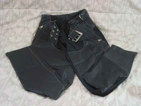 WILSONS Black Leather and Lycra Pants Sz XS Women's http://ajunkeeshoppe.blogspot.com/