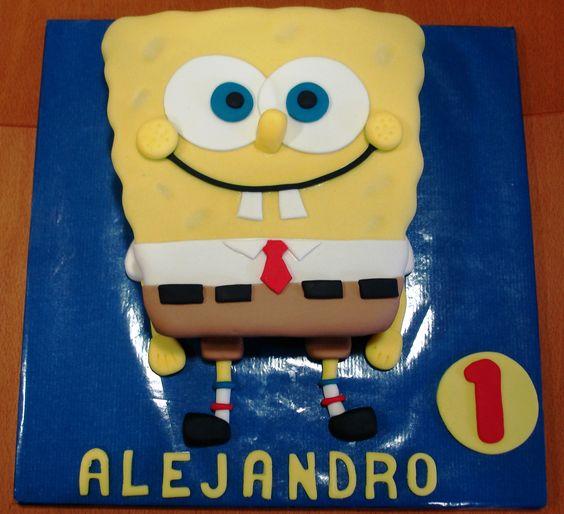Tarta Bob Esponja / Sponge Bob Cake: Tarta Bob, Esponja Sponge, Sponge Bob Cake, Tartas Decoradas, Cakes Love, Decoradas Cakes, Which Tartas