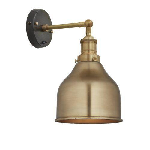 Brooklyn 1 Light Armed Sconce Industville Finish Brass Brass