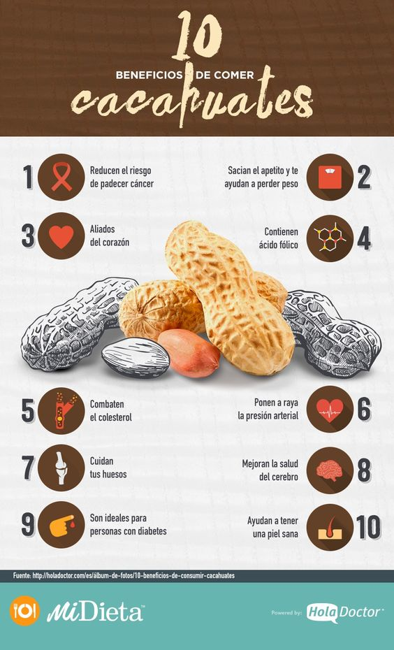 Por qué es bueno comer cacahuates
