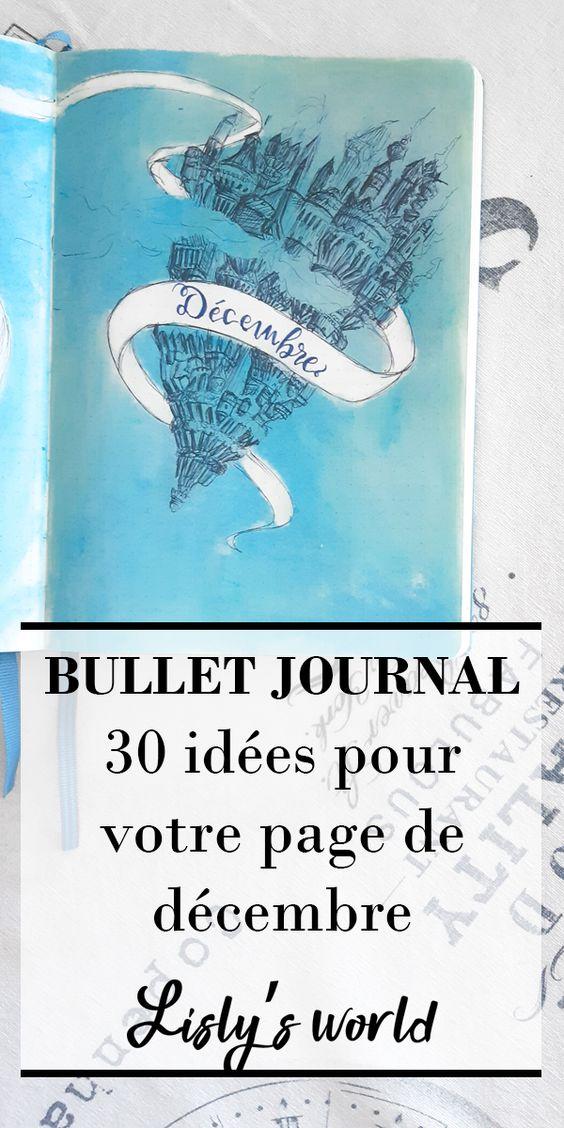 30 idées pour votre monthly cover de décembre dans votre Bullet Journal