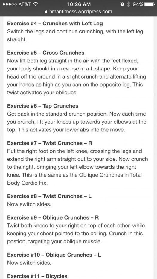 21 Day Fix 10 Minute Abs Exercises Part 2 Dietworkout 10 Minute Abs Exercise Crunches