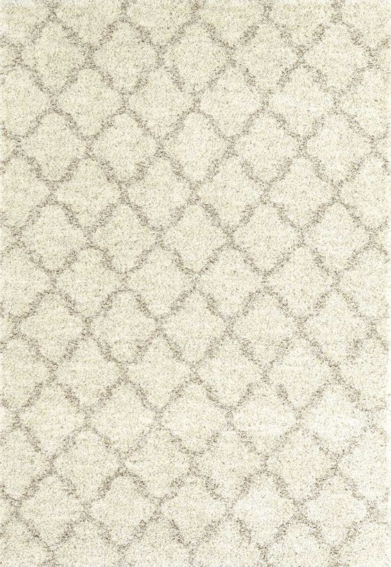 Rugs USA - Area Rug brown trellis lattice