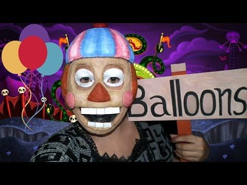 Balloon boy five nights at freddy s 2 makeup tutorial youtube
