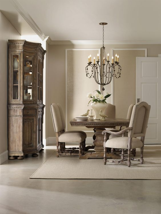Sorella Formal Dining Set With Rectangular Table, Upholstered Arm Chairs  And Upholstered Side Chairs By