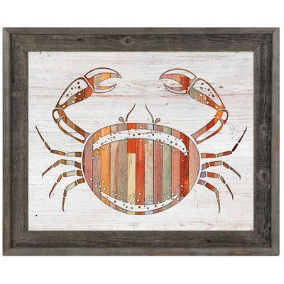 Click Wall Art 'Crab Wood' Framed Graphic Art on Canvas Size: