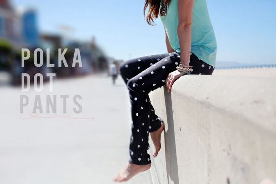 polka dot pants diy