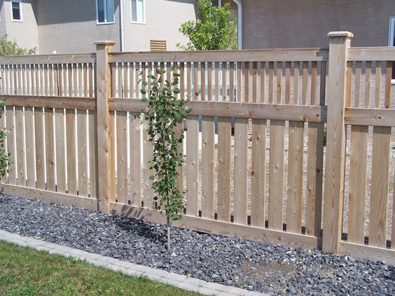 Craftsman Fence And Cedar Gate On Pinterest