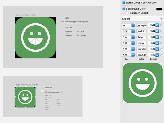 Smart Icon Export for iOS and Android | Free Sketch App Resources ...
