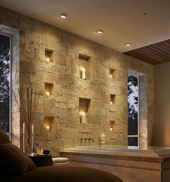 Candle Wall for behind tub in Master Bath