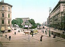 Hannover Georgstraße mit Theater (um 1895) - Geschichte der Stadt Hannover – Wikipedia