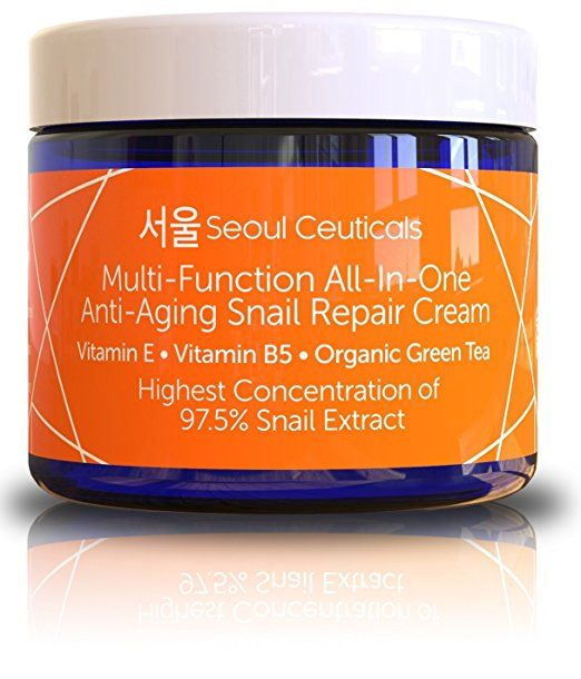 Korean Skin Care Snail Repair Cream Moisturizer 97 5 Snail Mucin Extract All In One Recovery Power For The Most Repair Cream Moisturizer Cream Moisturizer