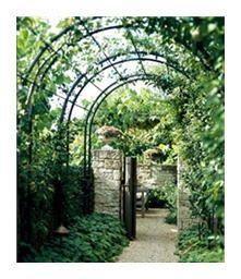 Arched tunnel wrought iron trellis pergolas arches - Treillis metal jardin ...