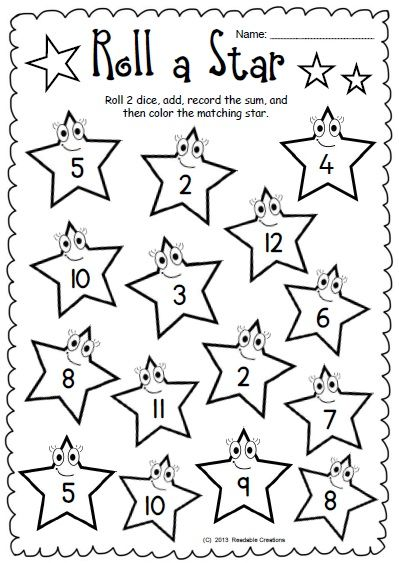 math worksheet : this free math packet prises 4 worksheets for skill practice  : Dice Addition Worksheet