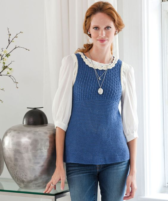 Crochet Wearever Tunic - free pattern. Designed by Kim Guzman / Skill Level Easy.