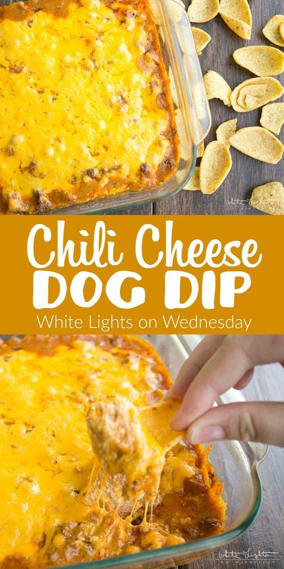 Chili Cheese Dog Dip | White Lights on Wednesday
