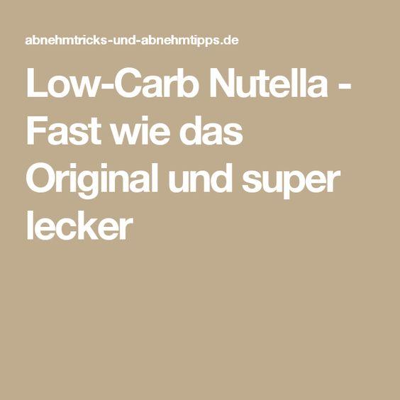 Low-Carb Nutella - Fast wie das Original und super lecker