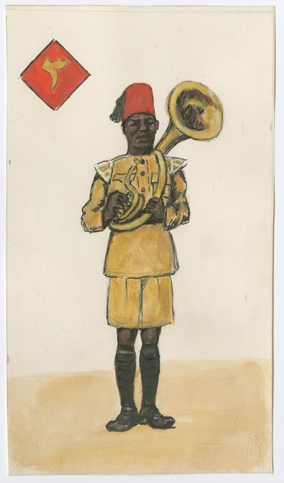 BRITISH ARMY - 3rd King's African Rifles,Musician, 1910 by CCP Lawson
