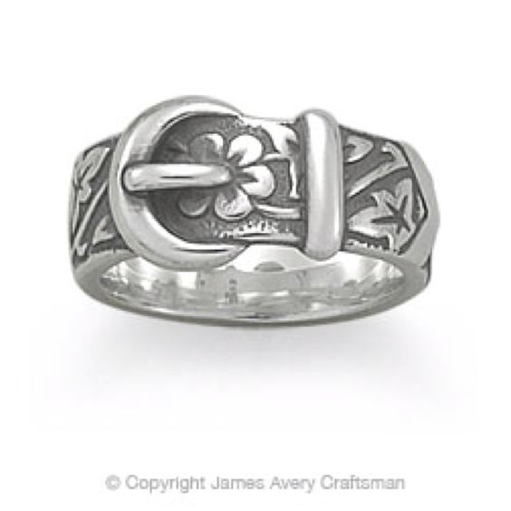 James Avery Floral Belt & Buckle Ring! Must have!