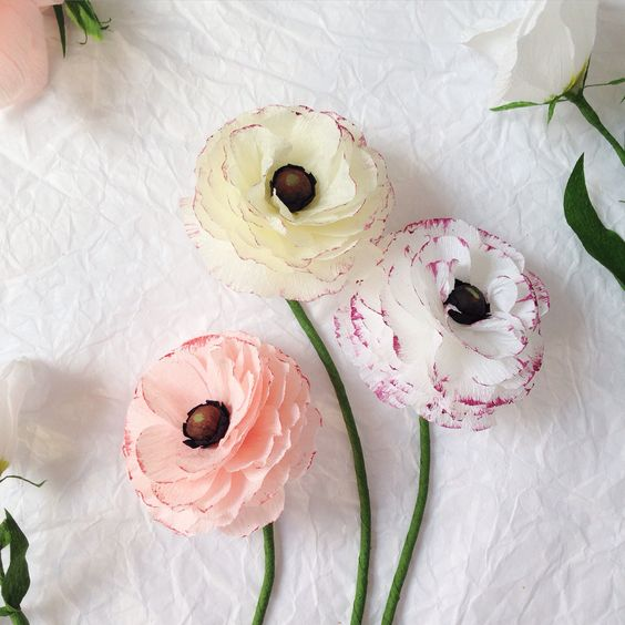 Paper Ranunculus from A Petal Unfolds