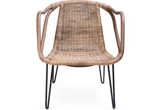 Woven Rattan Armchair on One Kings Lane today