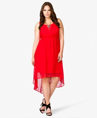 Cutout High-Low Dress in red from Forever 21 Plus. - SO MUCH WANT ...