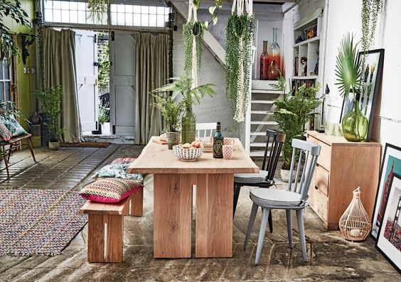 If your room is feeling a bit flat, layer pattern with pops of green houseplants. When teamed with soft Nordic furs and chunky knits it creates a homely, comforting environment that's still super cool and ecclectic.