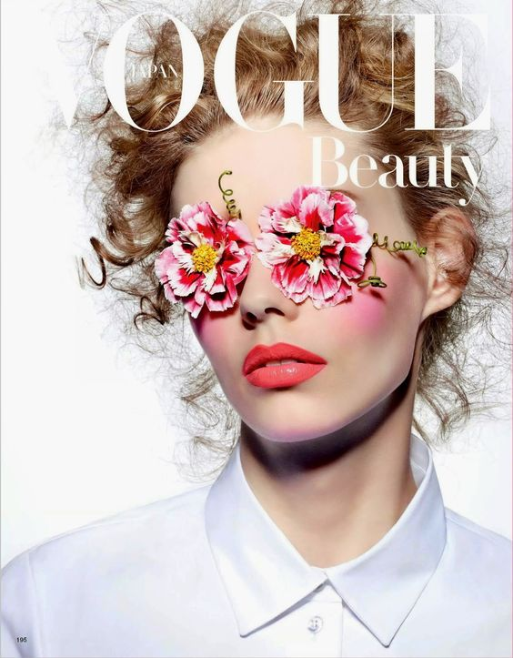 Ondria Hardin by Richard Burbridge for Vogue Japan March 2015 [Beauty]