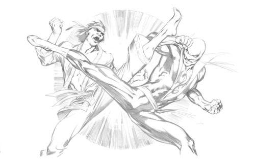 Iron Fist vs Shang-Chi by Alan Davis