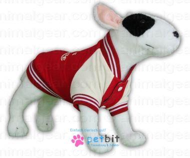 Baseballjacket Barkers League Red - Baseballjacket Barkers League Red / RotDie Hundejacke für den sportlichen Hund aus der Bell Liga!Die Hundejacke für den Bällchen Fan, den sportlichen Hund aus der B