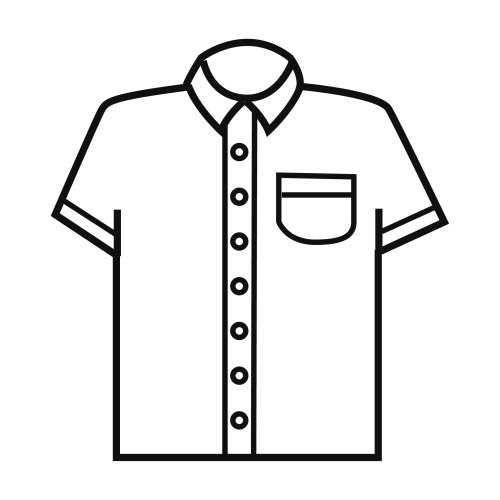 Okul Oncesi Gomlek T Shirt Boyama Sayfasi Okul Oncesi Okul