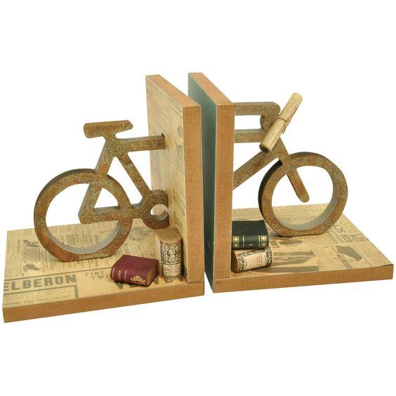 """Adesivo De Espelho Para Banheiro ~ Beyond The Page MDF Bicycle Bookends 5 5""""X5 5""""X5"""" by Kaisercraft Aparadores de livro"""
