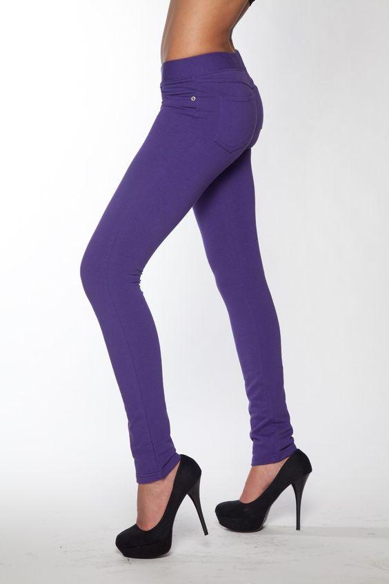 $19.97 Super Skinny Jeggings- Purple