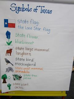 Anchor chart to explain Texas state symbols | Social Studies ...