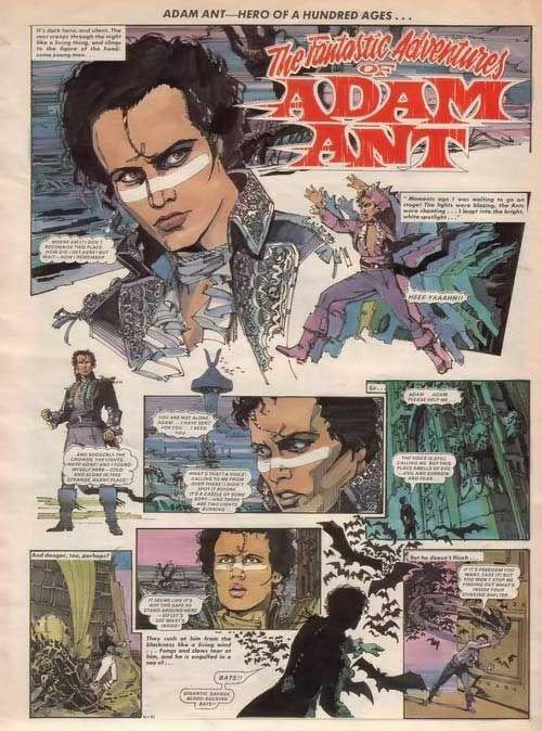 The Fantastic Adventures of Adam Ant comics