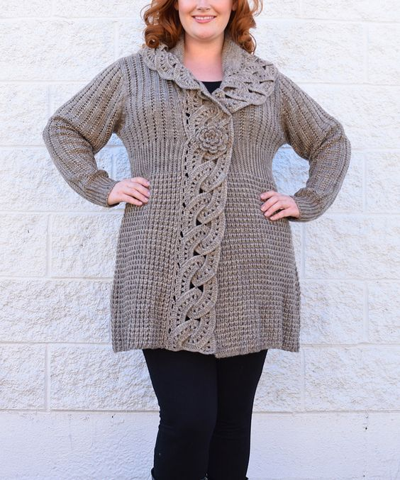 Another great find on #zulily! Simply Couture Oat Wool-Blend Cardigan - Plus by Simply Couture #zulilyfinds