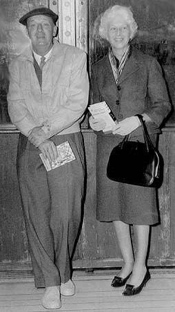 Vladimir Nabokov and his wife Vera.