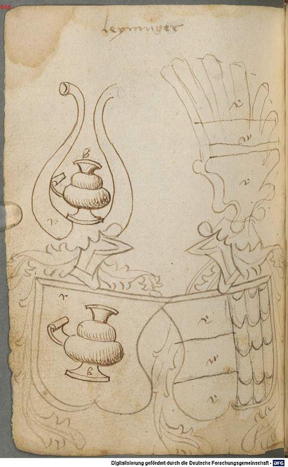 Ortenburger Wappenbuch Bayern, 1466 - 1473 Cod.icon. 308 u  Folio 121v