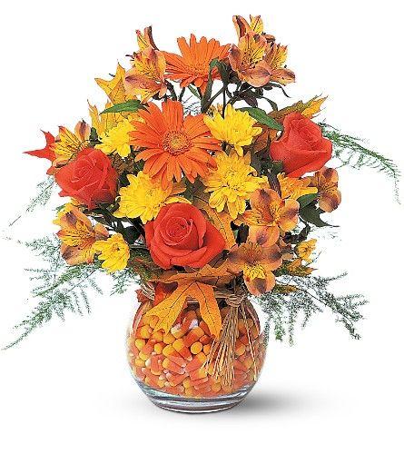 Fall mesas and ideas on pinterest for Centros de mesa para halloween