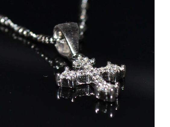 925 platinum sterling silver cross pendant 925 by KANTILAKI