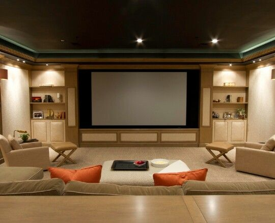 35 Modern Media Room Designs That Will Blow You Away | Small Space
