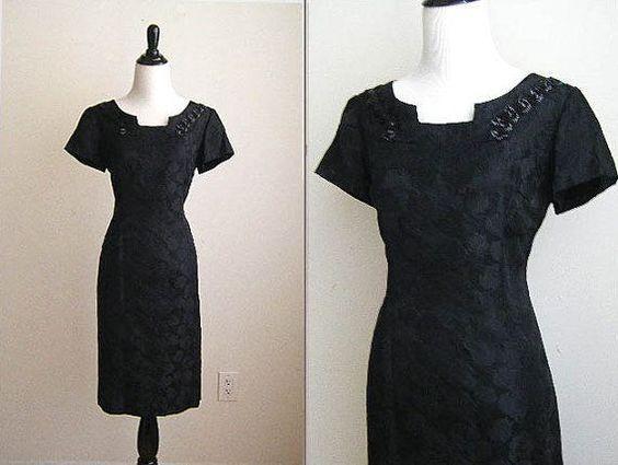 vintage little black dresses | Vintage Mad Men Little Black Dress by NicaChicaVintage on Etsy, $90.00
