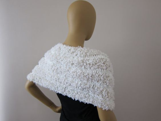 Ivory Bridal Shrug Wedding Bolero Scarf  FREE by KnitBuddy on Etsy, $59.00