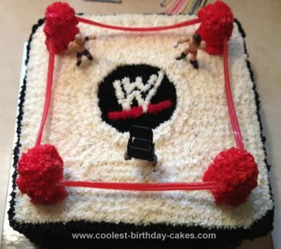 how to make a wrestling ring cake