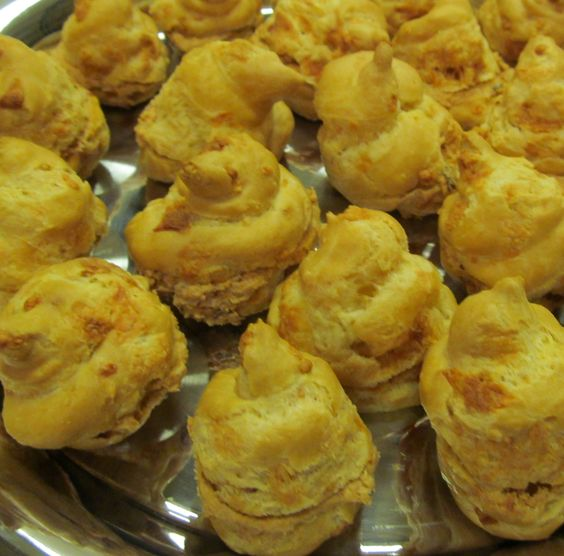 Manchego Cheese Puffs filled with Chipotle Chicken Salad | Recipes ...