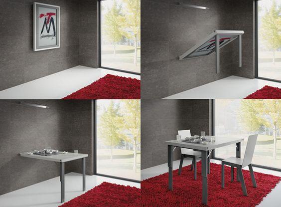 Mesas transformables para comedores y salones milan - Mesas plegables salon ...