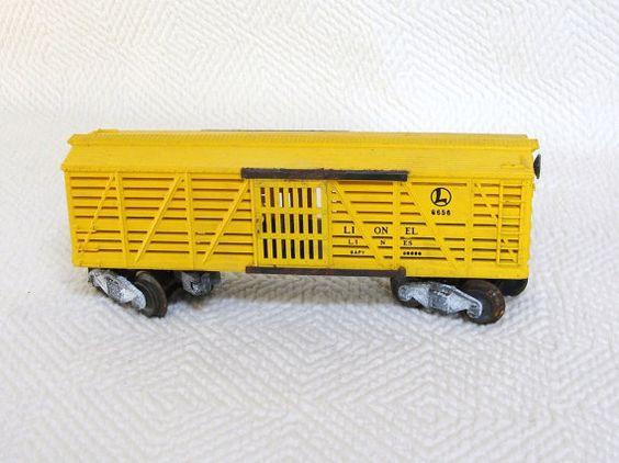 Wiring Diagram Lionel Cattle Car : Vintage lionel o gauge yellow cattle car by
