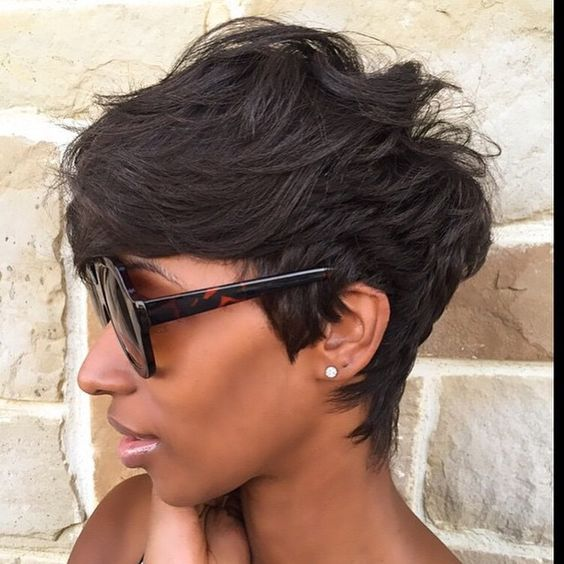 STYLIST FEATURE| In love with this pixie cut✂️ styled by #ArlingtonStylist @Khimandi❤️ Classy #VoiceOfHair ____________________________________ Sign up for our FREE ebook for more #hairspiration! Link in bio